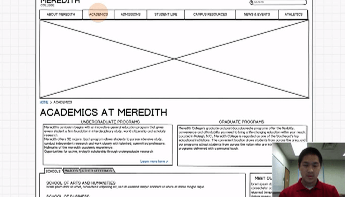 Balsamiq wireframing