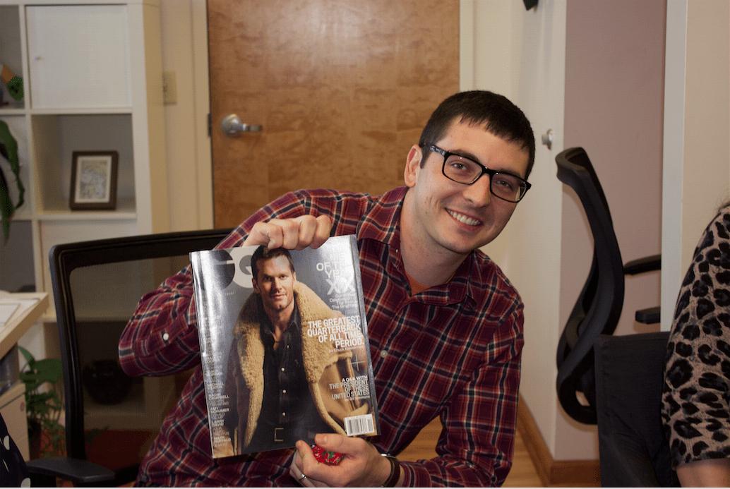 Matt with Magazine