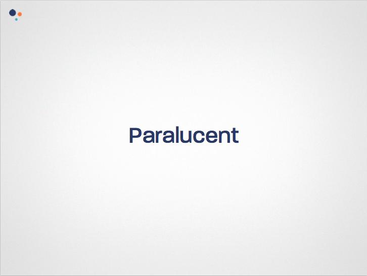 Paralucent Font
