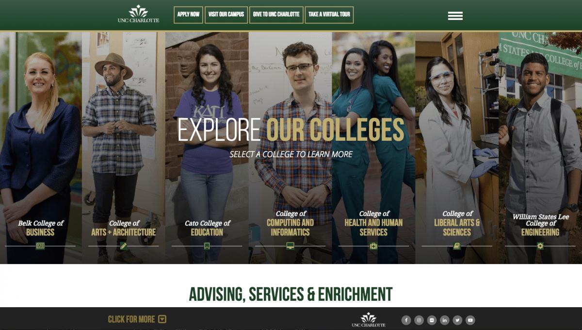 UNC Charlotte Academics Page