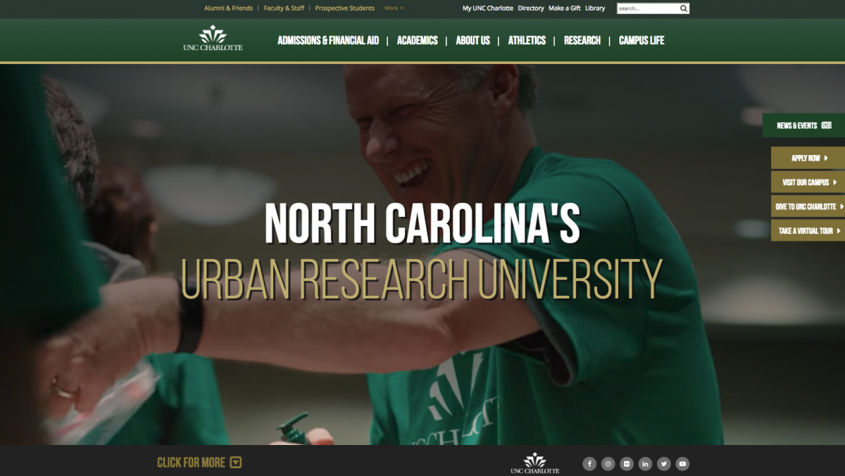 UNC Charlotte Home Page