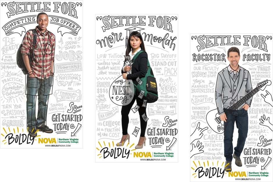 Samples from Boldy NOVA campaign