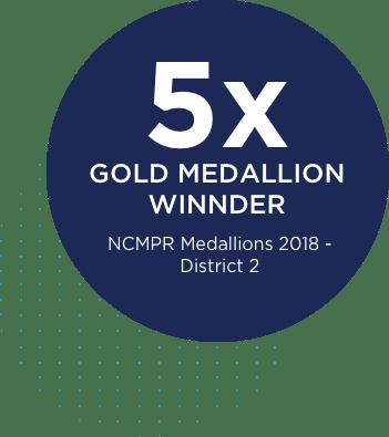 5 time gold medallion winner